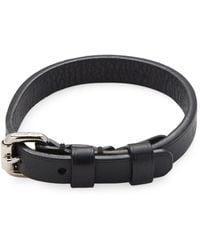 Louis Vuitton - Vintage Black Leather Bracelet - Lyst