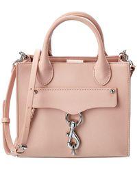 Rebecca Minkoff Megan Mini Leather Tote Crossbody - Pink