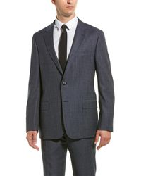 Hickey Freeman - 2pc Milburn Ii Wool Suit With Flat Pant - Lyst