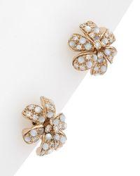 Gucci Flora 18k 0.18 Ct. Tw. Diamond Earrings - Metallic