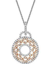Nephora - 14k Two-tone 0.86 Ct. Tw. Diamond Pendant - Lyst