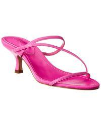 Schutz Evenise Leather Sandal - Pink