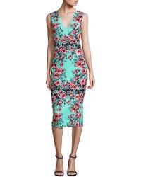 Fuzzi Sleeveless Jersey Dress - Blue