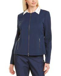 Lafayette 148 New York Agate Jacket - Blue