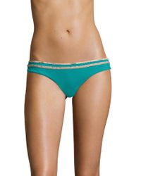 Sofia By Vix Solid Heaven Cutted Buzios Bikini Bottom - Blue