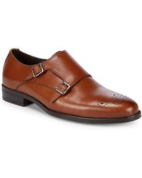 Saks Fifth Avenue - Double-monk Leather Dress Shoes - Lyst