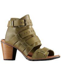 Sorel Nadia Leather Bootie - Green