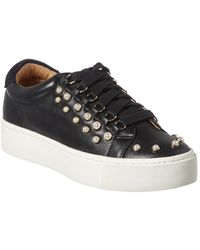 Joie Handan Pearl Leather Trainer - Black