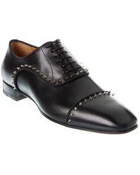 Christian Louboutin Eton Leather Oxford - Black