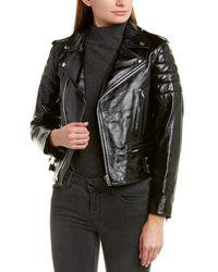 Helmut Lang Leather Biker Jacket - Black