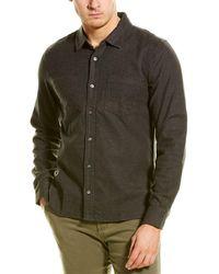 Michael Stars Standard Fit Woven Shirt - Gray