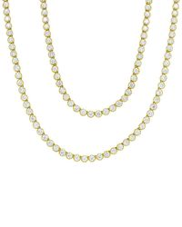 Diana M. Jewels . Fine Jewellery 18k 16.24 Ct. Tw. Diamond 34in Necklace - Metallic