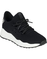 Ash Stardust Leather Trainer - Black