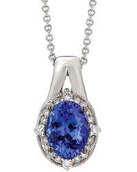Le Vian ? 14k 1.11 Ct. Tw. Diamond & Tanzanite Necklace - Blue
