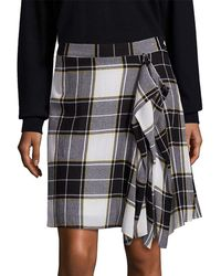 Public School Gina Draped Plaid Skirt - Black
