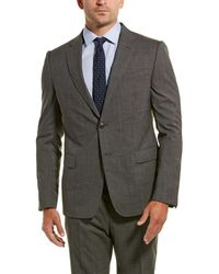 Z Zegna Z Zenga 2pc Wool Suit With Flat Pant - Gray