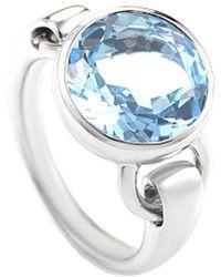 Poiray 18k 4.30 Ct. Tw. Topaz Ring - Blue