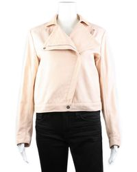 Hermès Pink Cotton Full Zip Jacket, Size 38