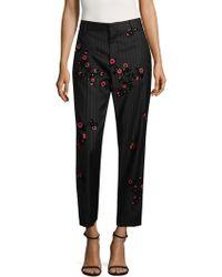 Marc Jacobs Floral Cropped Bowie Pants - Black