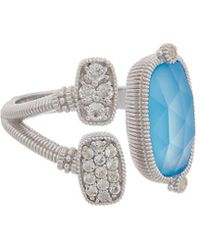 Judith Ripka Gold Coast Silver 3.99 Ct. Tw. Gemstone Ring