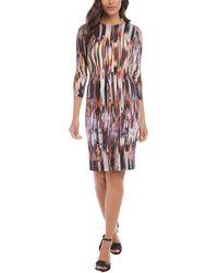 Karen Kane 3/4-sleeve Sheath Dress - Multicolor