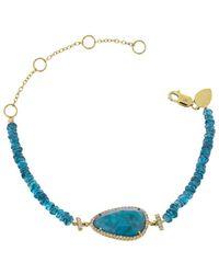 Meira T 14k 2.53 Ct. Tw. Diamond & Apatite Bracelet - Blue