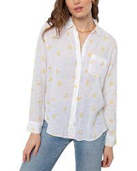 Rails Charli Linen-blend Shirt - White