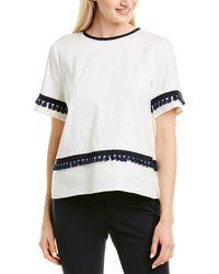 Marella Linen-blend Top - White