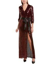 Alice + Olivia - Alice + Olivia Bayley Sequined Crossover Maxi Dress - Lyst