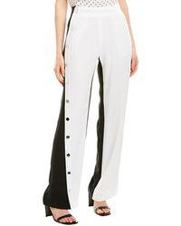 10 Crosby Derek Lam Side Snap Track Pant - White