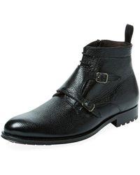 Mezlan - Leather Monkstrap Boot - Lyst