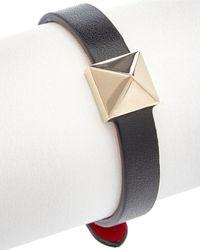 Valentino Garavani Roman Rockstud Leather Bracelet - Multicolour