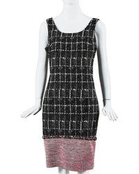 Chanel Tweed Sheath Dress, Size Fr 40 - Black
