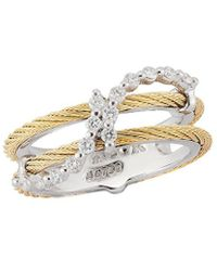 Alor - Classique 18k & Stainless Steel 0.28 Ct. Tw. Diamond Ring - Lyst
