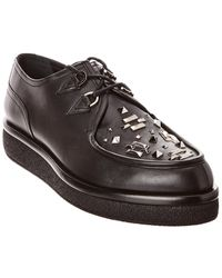 Valentino Leather Platform Oxford - Black