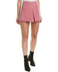 Paul & Joe Gingham Wool-blend Skort - Pink