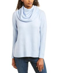 French Connection Flossy Ribbed Cowl Jumper - Blue