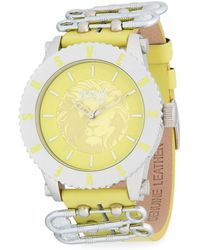 Versus - Graphic Stainless Steel Leather-strap Watch - Lyst