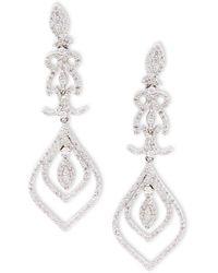 Effy - Diamond & 14k White Gold Earrings - Lyst