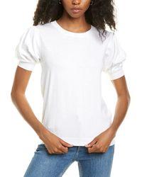 Joseph A . Puff-sleeve Top - White