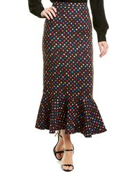 Saloni Portia Midi Skirt - Black