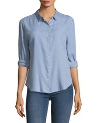 DL1961 - W 4th & Jane Slim Cotton Shirt - Lyst