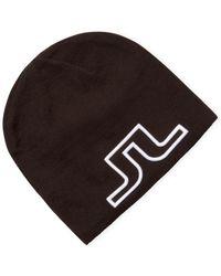 J.Lindeberg Knit Logo Beanie - Black
