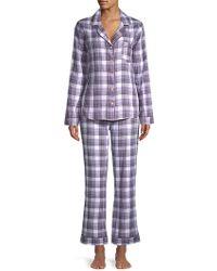 UGG - Raven Two-piece Plaid Cotton Pyjamas - Lyst