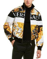 Versace Mixed Print Jacket - Black
