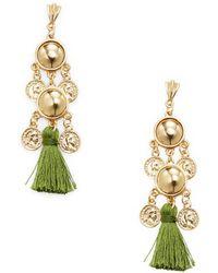 Ettika Jewelry - Coin Chandelier Tassel Statement Earrings - Lyst