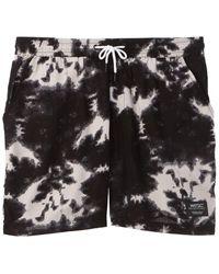 Wesc Hampus Tie-dye Swim Trunk - Black