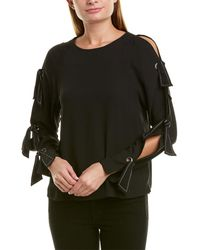 BCBGMAXAZRIA Cold-shoulder Top - Black