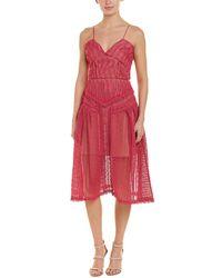 Self-Portrait Lace Midi Dress - Pink