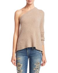 Sea Bleu Cashmere One Shoulder Sweater - Natural